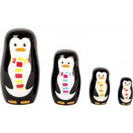 Legler egymásba rakható fa pingvin család - matrjoska  pingvinek 10619