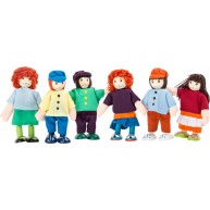 Legler textil-fa baba figurák - barátok  2955