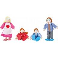 Legler textil-fa baba figurák - család 10320