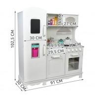Maxi Fa játékkonyha Little Chef hűtővel, jégadagolóval, mikróval, szuper komplett konyha gyerekeknek 4582