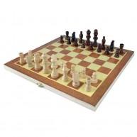 Összecsukható sakktábla fadobozban