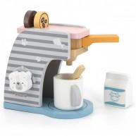 PolarB játék kávéfőző 3 kapszulával, tejjel, csészével és kanállal 6050