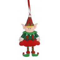 Agyag manófiú akasztható karácsonyfadísz 141756