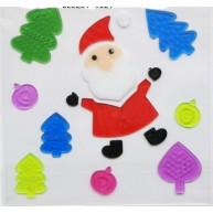Ablakzselé télapós karácsonyi dekoráció 312588