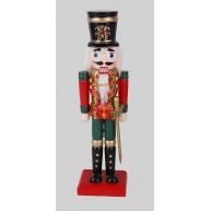 25 cm-es Diótörő katona karddal, piros-zöld karácsonyi dekoráció 729730