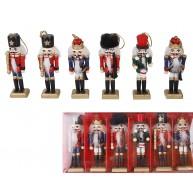 Diótörő figura szett, 6 darab  karácsonyi dekoráció 729625