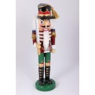 Diótörő katona karddal, piros karácsonyi dekoráció 25cm 729614