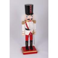 Diótörő katona, fehér ruhás karácsonyi dekoráció 729612