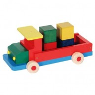 IMP-EX fa játék teherautó kockákkal 3418
