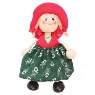 IMP-EX rugós kislány figura piros sapkában 3843-56
