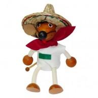 IMP-EX rugós mexikói egér figura sombréróban 3843-51