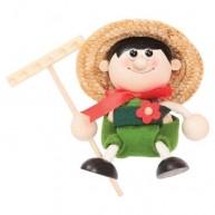 IMP-EX rugós kertész figura fiú 3843-29