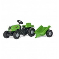 Rolly Kid-X pedálos traktor utánfutóval - zöld