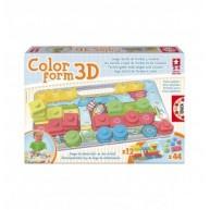 Educa Szín és forma rakó 3D puzzle, vonatos