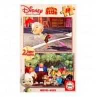 Educa Disney Csodacsibe fa puzzle, 2x50 darabos