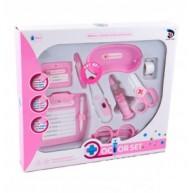 Lázmérős orvosi készlet, rózsaszín