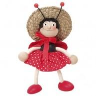IMP-EX Rugós katica lány figura kalapban 3843-25