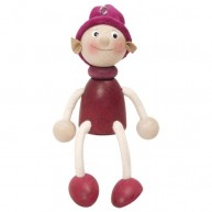 IMP-EX Rugós manó fiú figura bordó 3843-41