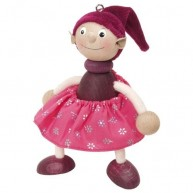 IMP-EX Rugós manó lány figura bordó ruhás 3843-45