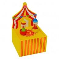 Mágneses zenélő cirkusz táncoló bohócokkal 3697-A