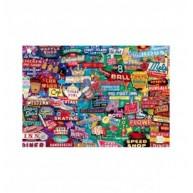 Educa Retro neon álom puzzle, 1000 darabos
