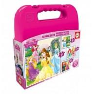 Educa Disney Hercegnők puzzle kofferban , 4 az 1-ben 16508