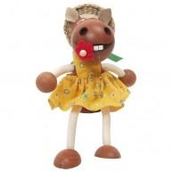 IMP-EX Rugós lovacska lány figura kalapban 3843-36