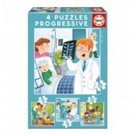 Educa Mi leszek, ha nagy leszek? 4 az 1-ben puzzle 17146