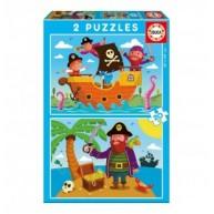 Educa Kalózok puzzle, 2x20 darabos