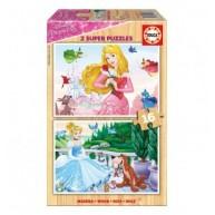Educa Disney hercegnők puzzle, 2x16 darabos 17163