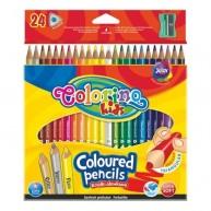 Colorino Kids háromszögű 24db-os színes ceruzakészlet egy fluoreszkáló, egy arany és egy ezüst színnel   57462PTR