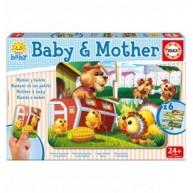 Educa Mama és kicsinye párosító bébi puzzle 2