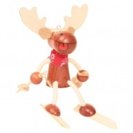 IMP-EX Rugós síelő szarvas fiú figura 3843-60