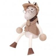 IMP-EX Rugós kecske fiú figura szemüvegben 3843-27