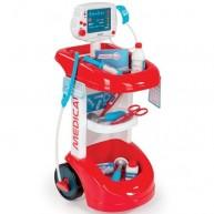 SMOBY játék orvosi kocsi vérnyomásmérővel 12 részes 24475