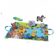 Ks Kids Dzsungel játszószőnyeg, állatfigurákkal