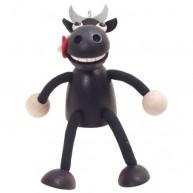 IMP-EX Rugós fekete bika figura 3843-8