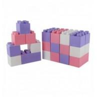 Óriás építőkockák, 24 darabos rózsaszín