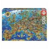 Educa Európa térképe gyerek puzzle, 500 darabos 17962