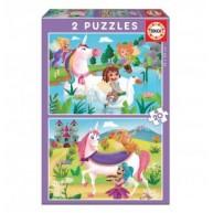 Educa Unikornisok és tündérek puzzle, 2x20 darabos 18064