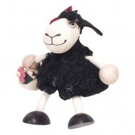 IMP-EX Rugós fekete bárány figura lány 3843-21