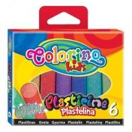 Colorino Kids gyurma csillámos 6db Glitter 42697
