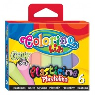 Colorino Kids gyurma sötétben világító 6db Glow 42680