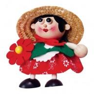 IMP-EX Rugós virágárús kislány figura 3843-30