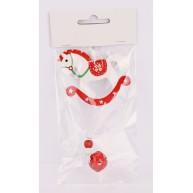 Lógó karácsonyfadísz - fehér hintaló csengővel 452378