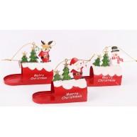 Karácsonyi dekorációs fém levelesládák 752739