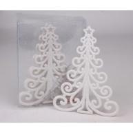 Hófuttatott csillogó karácsonyfa dísz 455774