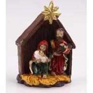 Kerámia Betlehem csillaggal a tetején kis Jézussal, Szűz Máriával és Józseffel 468006