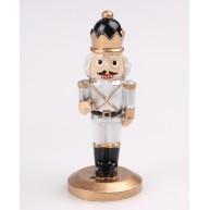 Kerámia polirezin király fehér-arany ruhában 468139