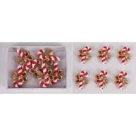 Kerámia polirezin kampónyalóka karácsonyi dekoráció szett 468349